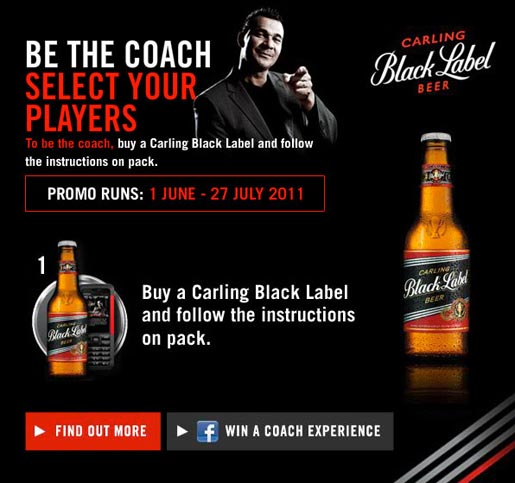 Carling Black Label Be The Coach Display ad