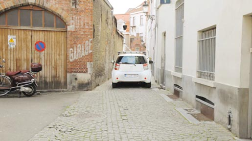 Toyota iQ Street View In Action