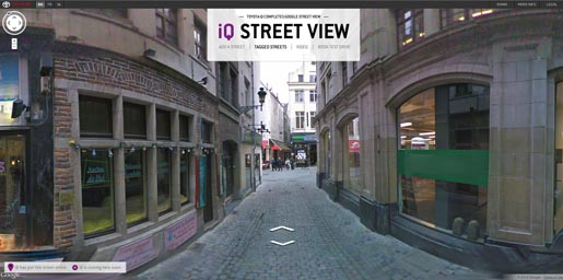 Toyota iQ Street View Website