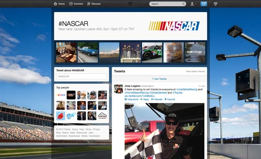 Twitter NASCAR page
