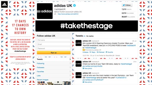 Adidas Take The Stage Twitter
