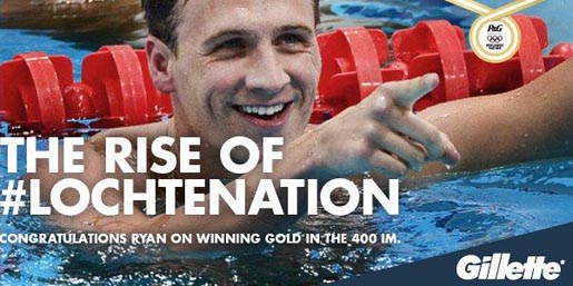 Ryan Lochte in Gillette Rise of Lochtenation