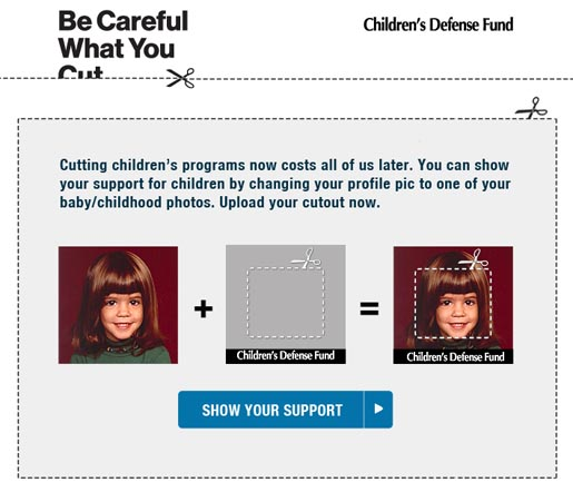 Childrens Defense Fund Be Careful What You Cut - Facebook App