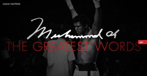Muhammed Ali Greatest Words Site
