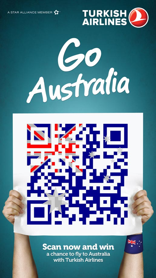Turkish Airlines QR Flags Go Australia
