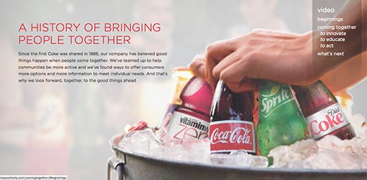 Coca Cola Coming together - A History