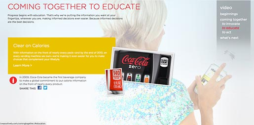Coca Cola Coming together to Educate