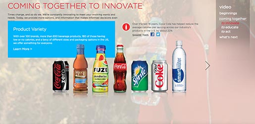 Coca Cola Coming together to Innovate