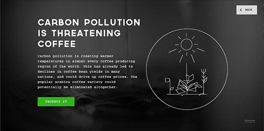Carbon Pollution is threatening coffee