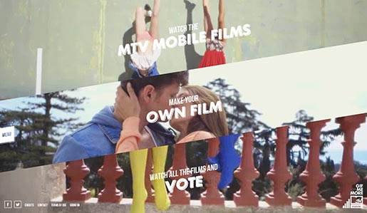 MTV Mobile Gif Me More Power site