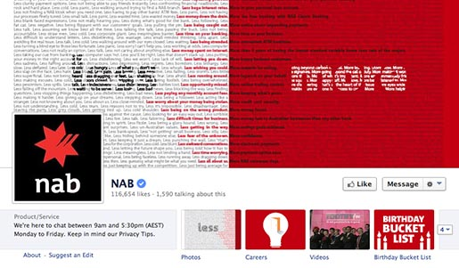 NAB More Not Less Facebook Page