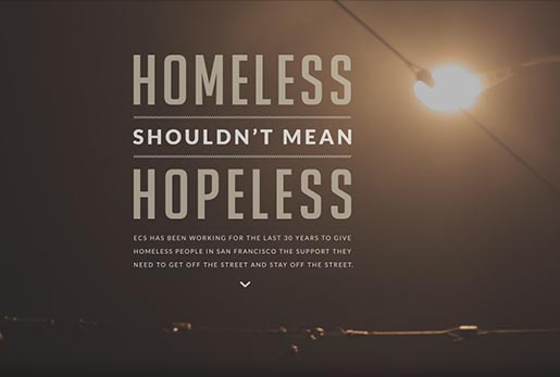 ECS Homelessness shouldn't mean hopelessness