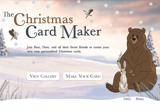 John Lewis The Bear and the Hare Christmas Card Maker