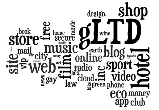 Popular GLTD Domain registrations