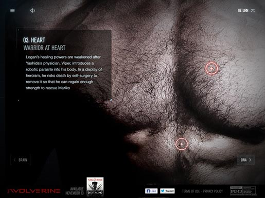 The Wolverine Unleashed interactive site