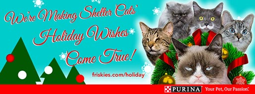 Purina Friskies 5 Celebrity Cats and Holiday Wishes