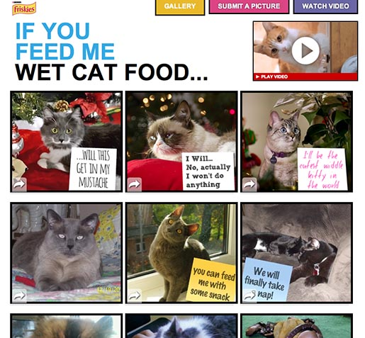 Purina Friskies If You Feed Me Cat Food site