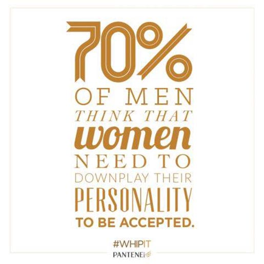 Pantene 70 percent of men thought women need to downplay personality