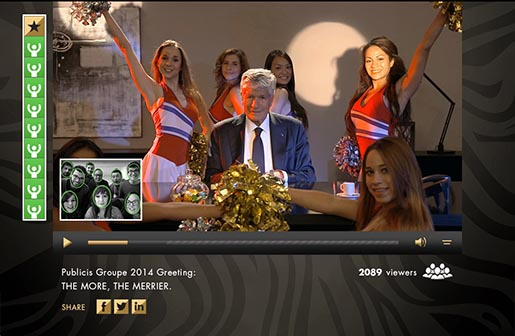 Publicis Groupe Maurice Levy with 4 dancers