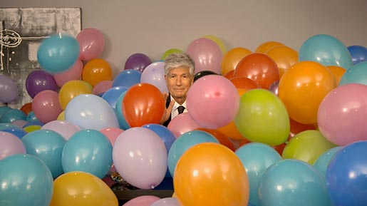 Publicis Groupe Maurice Levy with Balloons