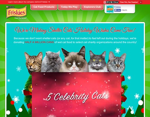 Purina Friskies 5 Celebrity Cats
