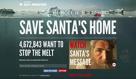 SaveSantasHome.org site