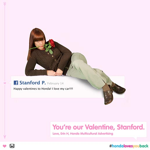 Honda You Are Our Valentine Facebook