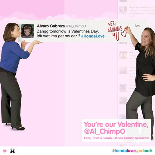 Honda You Are Our Valentine Twitter