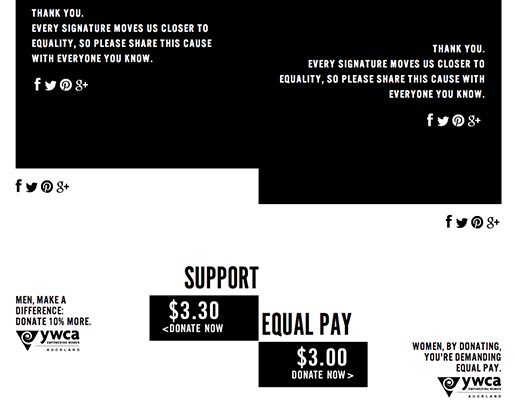 YWCA Demand Equal Pay site