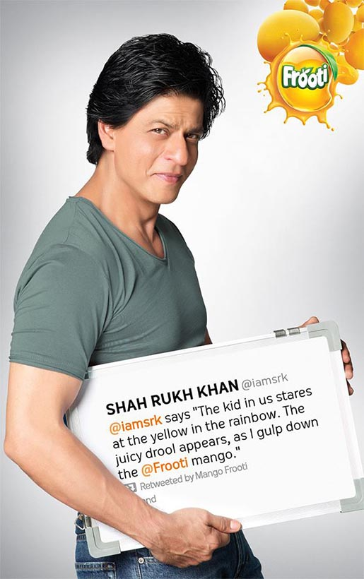 @IAMSRK Frooti Poster