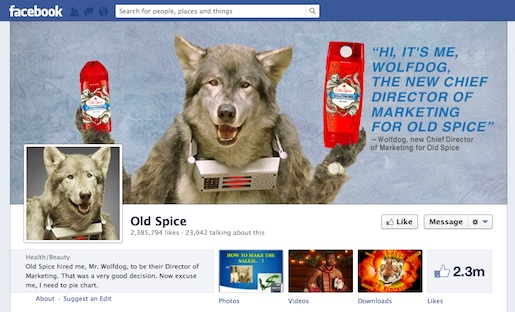 Old Spice Wolfdog on Facebook