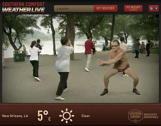 Southern Comfort Comfortable Weather Guy in New Orleans