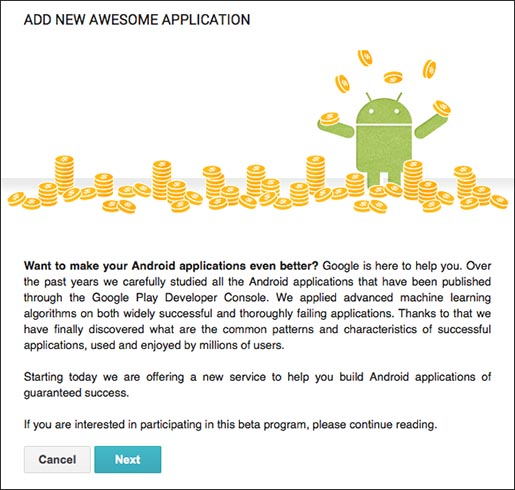 Google Play Add Awesome New Application