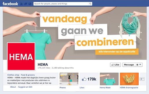 HEMA Mix and Match Facebook Page