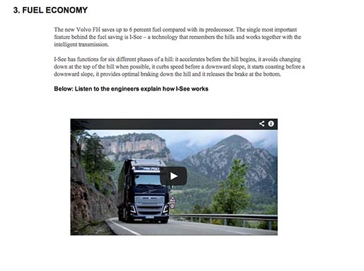 Volvo Truck eBay Launch