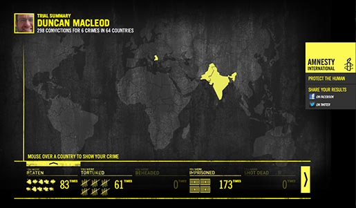 Amnesty Convictions Map