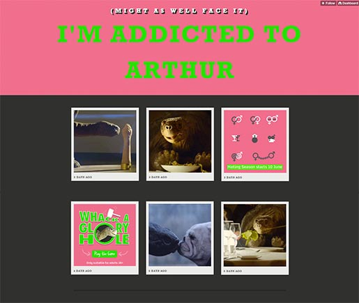 I'm Addicted to Arthur site