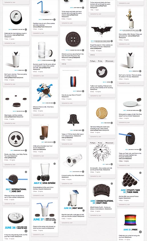 Oreo Daily Twist Pinterest Board