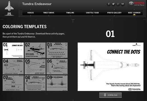 Toyota Tundra Endeavour Pull Coloring Templates