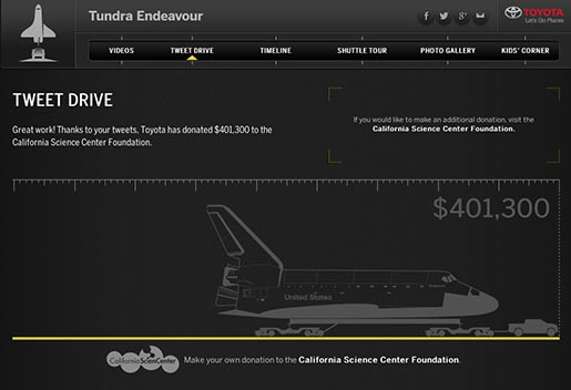 Toyota Tundra Endeavour Pull Tweet Drive