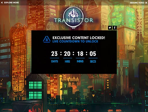 Playstation Greatness Awaits - Transistor Exclusive Content Locked
