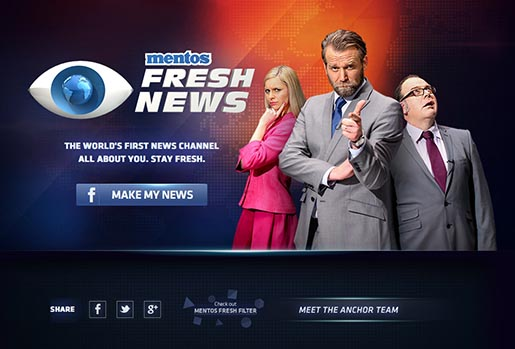 Mentos Fresh News site