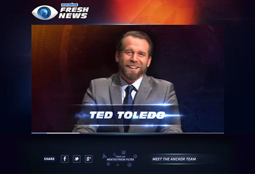 Mentos Fresh News Ted Toledo