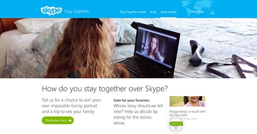 Skype Stay Together contest