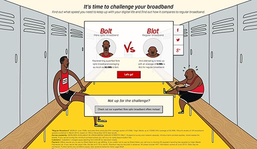 Virgin Bolt vs Blot Challenge Your Broadband site