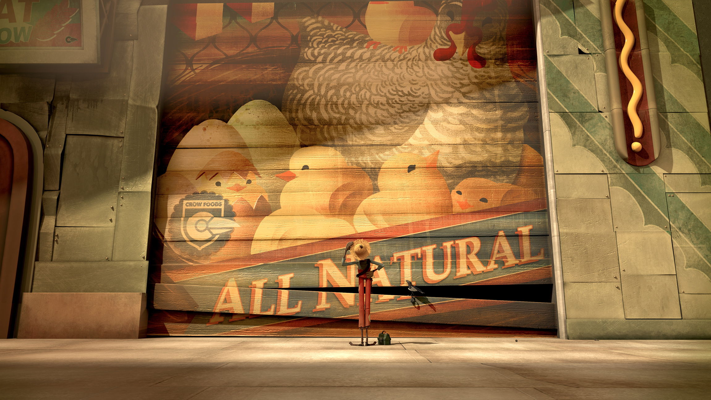 """chipotles the scarecrow In the new chipotle commercial called, """"the scarecrow,"""" which is a three-minute  animated story, we see the inside of a fast-food factory where."""
