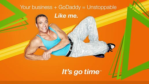 GoDaddy.com Van Damme in Go Time