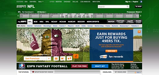 Stubhub Ticket Oak ESPN NFL