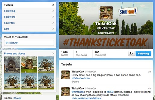Stubhub Ticket Oak Page