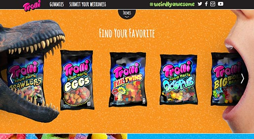 Trolli Weirdly Awesome site - Find Your Favorite